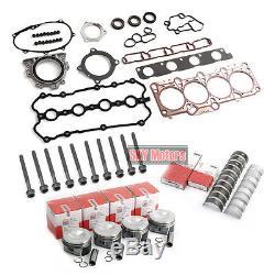 Moteur Pistons Anneaux Joints Boulons Kit De Reconstruction Pour Vw Audi A4 2.0 Tfsi Bwt Bpy