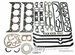 Moteur Reconstruire Kit De Révision Générale Flat Top Pistons Pour 1976-1985 Chevrolet 305 5.0l