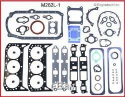 Moteur Reconstruire Kit Overhaul Pour Gm Mercruiser Marine 262 V6 4.3l