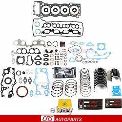 Pour Toyota 2/3rzfe Tacoma 2.4l 2.7l Re-ring Kit Full Gasket Set Bearings Rings