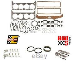 Sbc Chevy 327 350 5.7l Petit Bloc Re-ring Reste Kit Anneaux Roulements Joints