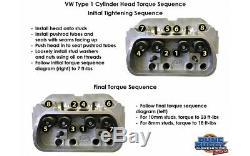 Vw Beetle 1600cc Moteur Rebuild Kit 87mm Pistons Avec Big Heads Valve
