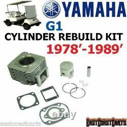 Yamaha G1 Golf Cart Piston Cylinder Kit De Reconstruction De Moteur J10-1131 (livraison Gratuite)
